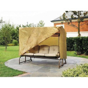 Outdoor 3 Triple Seater Hammock Swing Glider Canopy Cover All Weather Protection 220cm w x 64 in d x 66 in h