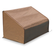 Abba Patio Outdoor Bench/Long Chair/Loveseat Cover, Water Resistant, 130cm L x 80cm W x 80cm H, Brown