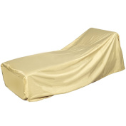Sundale Outdoor Heavy Duty Patio Day Chaise Lounge Cover with PVC Coating Waterproof, fit up to 79L x 28W x 25/35H inches, Beige