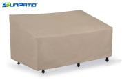SunPatio Outdoor Patio Veranda Sofa / Loveseat Cover,Light Weight,Water Resistant, Eco-Friendly,Helpful Air Vents,150cm L x 90cm W x 80cm H