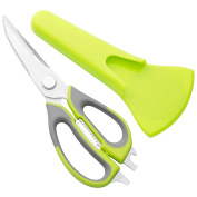 HALETE Kitchen Shears - Best Kitchen Scissors for Poultry, Seafood, Scallop, Herb, Scissoring