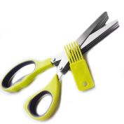 Medo Kitchen Herb Scissors Multipurpose Kitchen Scissors 5 Stainless Steel Blades with Clean Comb Fast and Easy Clean