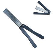 Diamond Knife Sharpening KangTeer 13cm Double Sided Diafold Whetstone 400/600Grit Sharpener Stone for Outdoor Kitchen Garden