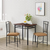 Mainstays 3-Piece Dining Set, Wood And Metal