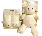 Babies can travel in comfort with these Seat Belt Covers with Matching Rattle Pram Toy