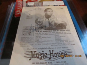 Harry Belatonte Signed 4/15 1956 Concert Programme