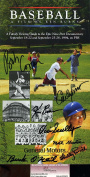 VIN SCULLY JSA COA HAND SIGNED BY 8 KEN BURNS BASEBALL BOOKLET CERT AUTOGRAPH