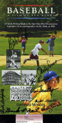 VIN SCULLY JSA HAND SIGNED BY 8 KEN BURNS BASEBALL BOOKLET AUTHENTIC AUTOGRAPH
