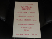 UNUSUAL 1970 WORLD SERIES SCORE CARD programme REDS VS ORIOLES AT CINCINNATI