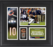 Mitchell Trubisky Chicago Bears Carolina Panthers Framed 38cm x 43cm Player Collage with a Piece of Game-Used Football - Fanatics Authentic Certified