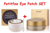 Petitfee Black Pearl & Gold + Gold Hydrogel Eye Patch SET