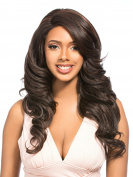 MEGA LACE 126 (1B Off Black) - Hair Topic L-Part Synthetic Lace Front Wig