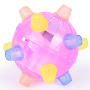 Kid Toy Ball Emubody Flashing Light Up Spikey Ball Kid TPR Flashing High Bouncing Balls, Random Colour