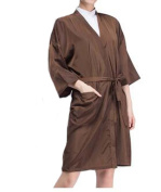 Salon Client Gown Upscale Robes Beauty Salon Smock for Clients, Brown
