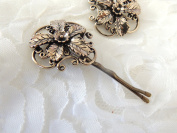 Sara Attali Design Lovely Vintage Hair Clip leaves and flowers Designer Decorations