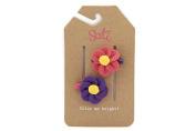 Sati Poppy Flower Hair Clips for Kids