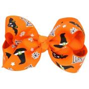 Putars Cute Baby Girls Halloween Bowknot Hairpin Headdress