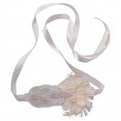 MonkeyJack Woman Lady Flapper Feather Headband 1920s Great Gatsby Fascinator Hair Decor