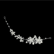 Vellhater Fashion Acrylic Pearl Butterfly Flower Headband for Bridal Wedding Decor