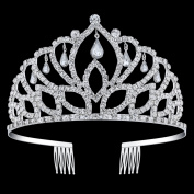 BABEYOND Rhinestone Crystal Tiara Crown Wedding Bridal Prom Headband Comb Pin