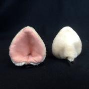 Kritter Klips Handmade Faux Fur Realistic Clip-On Animal Ears- Pink Pig Ears
