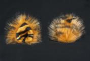 Kritter Klips Handmade Faux Fur Realistic Clip-On Animal Ears- Tiger Ears