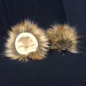 Kritter Klips Handmade Faux Fur Realistic Clip-On Animal Ears- Lion Ears