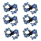 Polytree 6pcs Mini Rhinestone Hairpin Women Girl Hair Clip Pin Claw Barrettes Accessories for Wedding