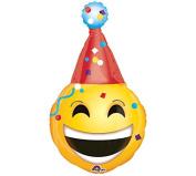 KOEHLER Smi Emoticon Party Hat Toy Foil Balloon, 100cm