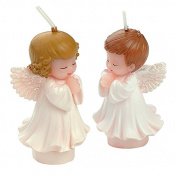 Joinor Boy Girl Angel Silicone Fondant Mould Resin Clay Soap Candle Moulds Baby Shower Birthday Cake Topper Decorations Chocolate Candy Mould, Desk Decor, Wedding Gifts Making Tools