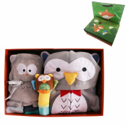 M'Baby Newborn Baby Gift Set Baby Girl Baby Boy Animal Clothes Toys, Owl