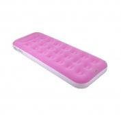 190cm Pink and White Flocked Inflatable Adult's Air Matress