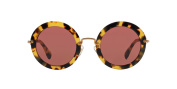 Miu Miu W-SG-3816 MU 13N 7S0-0A0 - Tortoise & Pink Sunglasses for Womens - 49 x 26 x 140 mm