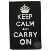 5ive Star Gear TSP-6767000 PVC Police Moral Patch - Keep Calm & Carry on