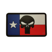 5ive Star Gear TSP-6798000 PVC Police Moral Patch Texas Flag - Punisher