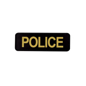 5ive Star Gear TSP-6620000 PVC Moral Patch Police Black with Gold - 6 x 2