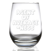 Agent of Averageness Stemless Wine Glass