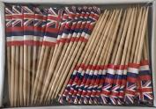 One Box Hawaii Toothpick Flags, 100 Small Hawaiian Flag Toothpicks or Cocktail Picks