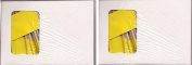 2 Boxes of Solid Yellow Toothpick Flags, 200 Small Yellow Flag Toothpicks or Cocktail Picks