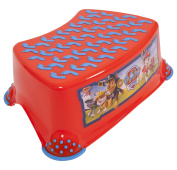 "Paw Patrol Baby Child & Toddler Step Stool 14cm/5.5"" Red/Light Blue Strong Plastic 90kg/200lb Capacity Non Slip/Skid Safety Rubber Surface & Feet for Toilet/Potty Training, Lightweight & Portable"