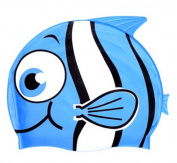 YYGIFT Cute Cartoon Design Kid's Silicone Swimming Cap Animal Shaped Swim Cap for Boys and Girls