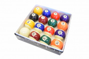 Pool Table Billiard Ball Set - 5.1cm - 0.2cm Full 16 Pool Ball Set