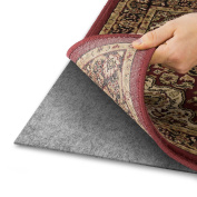 Area Rug Pad with GRIP TIGHT Technology (5x8) | Non Slip Padding Perfect for Hardwood Floors | Thick Felt Cushion for Rugs Nonskid Kitchen Persian Carpet Mat Natural Grey