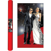 Movie Night Hollywood Themed Party Long Red Carpet Aisle Runner Decoration, Felt, 12m x 90cm