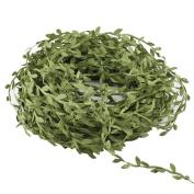 Artificial Vines,Hogado 40m Fake Hanging Plants Silk Ivy Garlands Simulation Foliage Rattan Green Leaves Ribbon Wreath Accessory Wedding Wall Crafts Party Decor