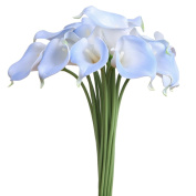 Luyue Calla Lily Bridal Wedding Bouquet Head Lataex Real Touch Flower Bouquets Pack of 20