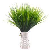 Lanldc 4 Bundles Plastic Wheat Grass Fake Leaves Shrubs Simulation Greenery Bushes for Home Wedding Office Party Decoration