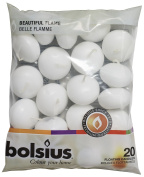 Bolsius Pack of 20 White Floating Candles 1.1.9cm