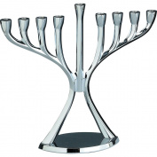 Rite-Lite Judaica Chrome-Plated Aluminium Modern Menorah