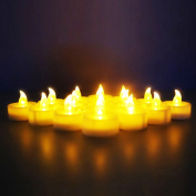 Novelty Place [Longest Lasting] Battery Operated Flickering Flameless LED Tea Light Candles
